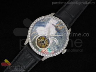 Porcelain Crane Tourbillon Diamond